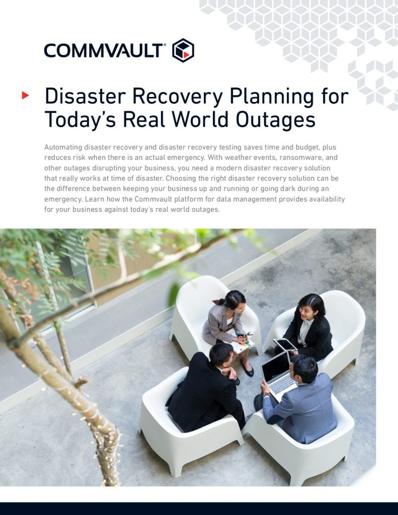 Disaster Recovery Planning for Today's Real World Outages