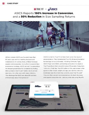 ASICS Reports 150% Increase in Conversion, and a 50% Reduction in Size Sampling Returns