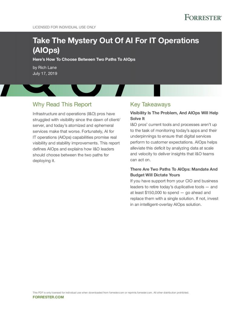 Take the Mystery Out of AI for IT Operations