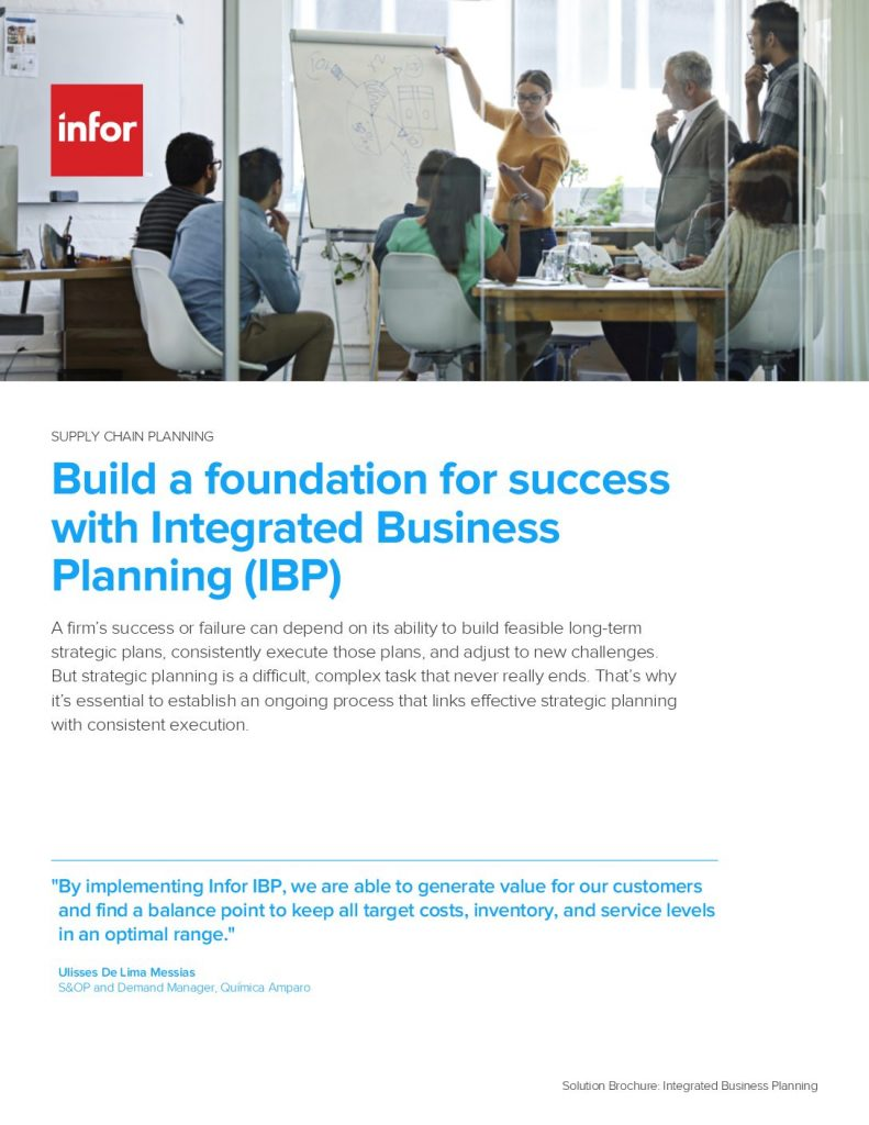 Build a foundation for success with integrated business planning