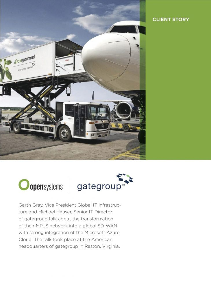 OpenSystems Case study GateGroup