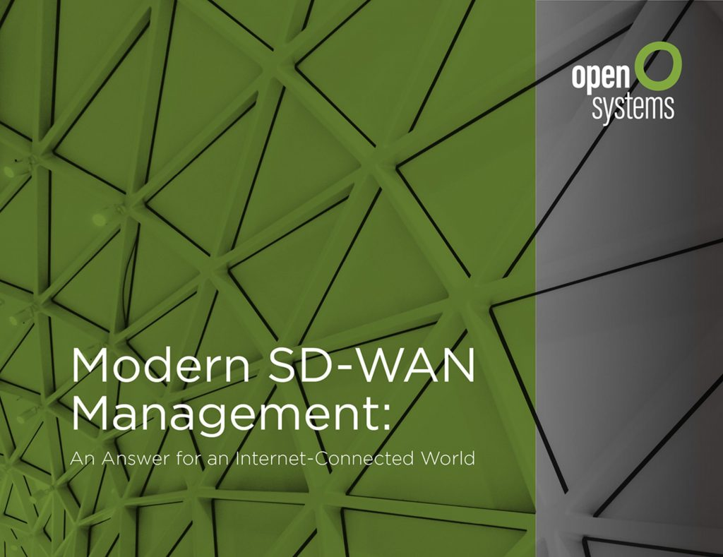 Modern SD-WAN Management: An Answer for an Internet-Connected World