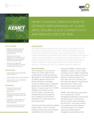 KEMET Customer Story