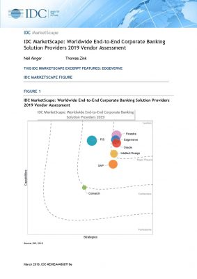 IDC MarketScape: Worldwide End-to-End Corporate Banking Solution Providers 2019 Vendor Assessment