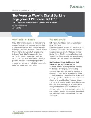 The Forrester Wave™: Digital Banking Engagement Platforms, Q3 2019