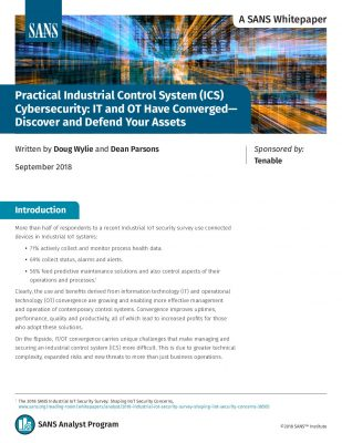 SANS Whitepaper: Practical Industrial Control System Cybersecurity