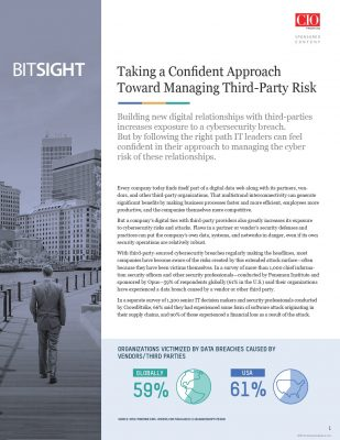 Taking a Confident Approach Toward Managing Third-Party Risk
