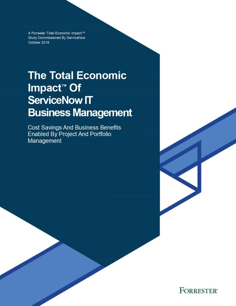The Total Economic Impact™ Of ServiceNow IT Business Management