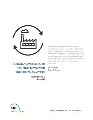 Take Manufacturing to the Next Level with Industrial Analytics