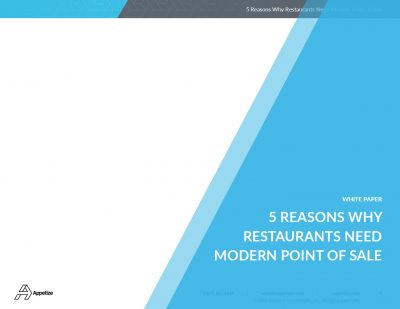 5 Reason Why Restaurants Need Modern Point of Sale