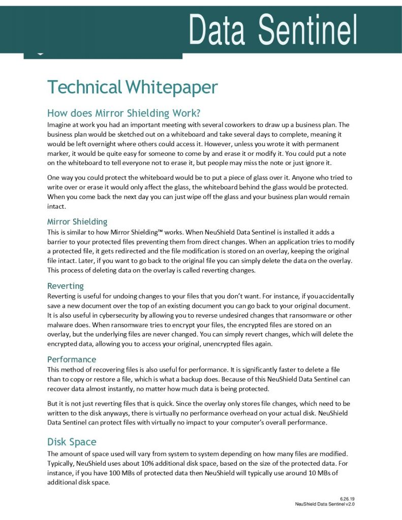 NeuShield Technical Whitepaper