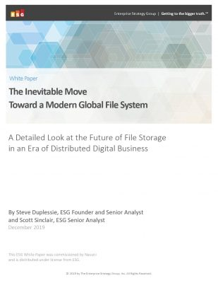 The Inevitable Move Toward a Modern Global File System