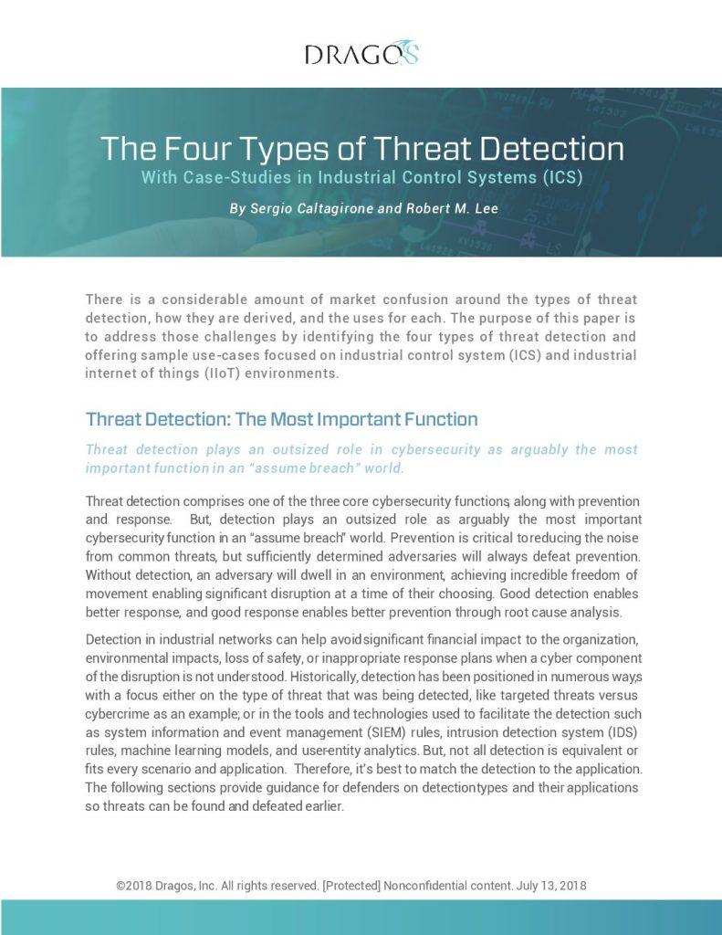 ICS Threat Detection: 4 Types, Defined by Application
