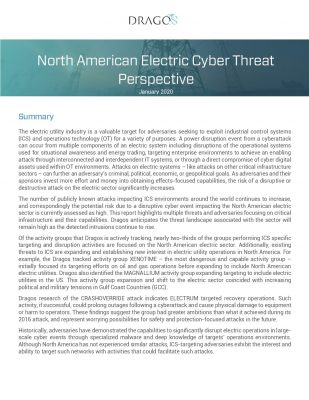 North American Electric Cyber Threat Perspective