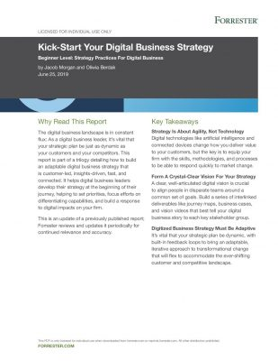 Kick-Start Your Digital Business Strategy