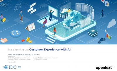 IDC Industry Brief: Transforming the Customer Experience with AI