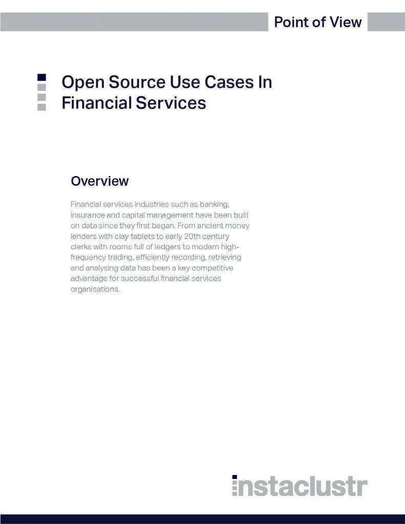 Open Source Use Cases In Financial Services