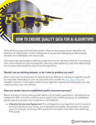 How to Ensure Quality Data for AI Algorithms