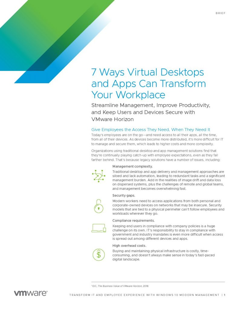 7 Ways Virtual Desktops and Apps Can Transform Your Workplace