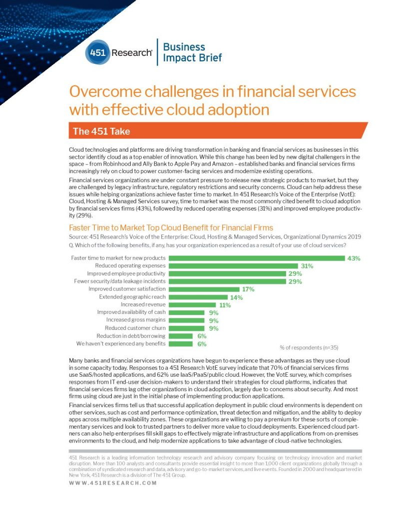 Overcome Challenges in Financial Services with Effective Cloud Adoption