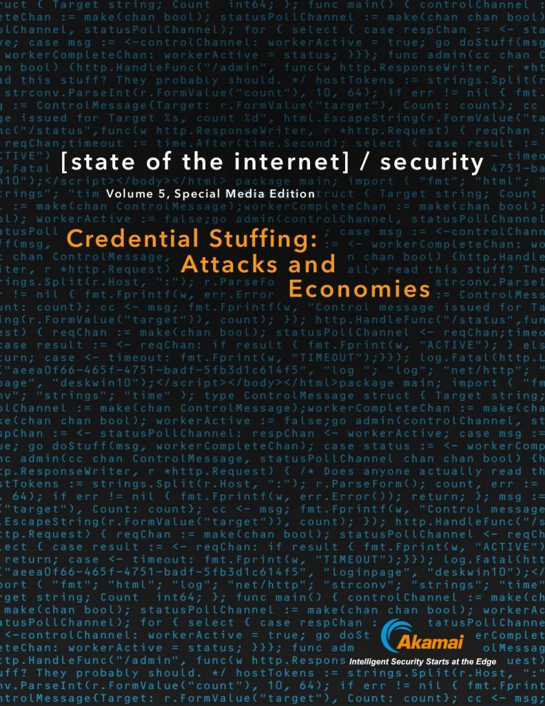 State of the Internet / Security: Credential Stuffing – Attacks and Economies