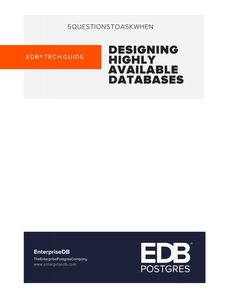 5 Questions to Ask When Designing Highly Available Databases