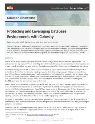 ESG Solution Showcase: Protecting and Leveraging Database Environments with Cohesity