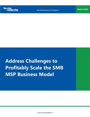 SLI White Paper: Address Challenges Profitably Scale the SMB MSP Business Model
