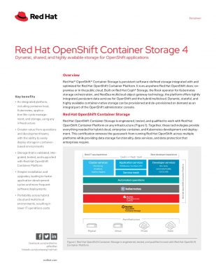 Red Hat OpenShift Container Storage 4