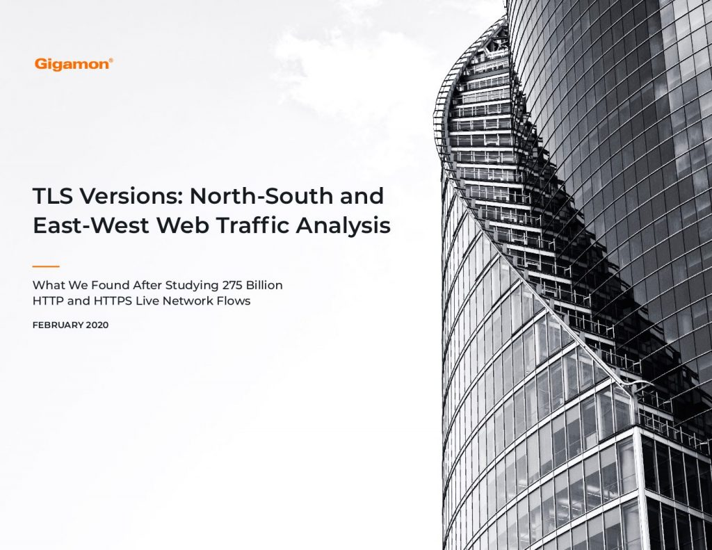 TLS Versions: North-South and East-West Web Traffic Analysis