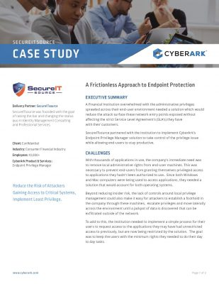 A Frictionless Approach to Endpoint Protection