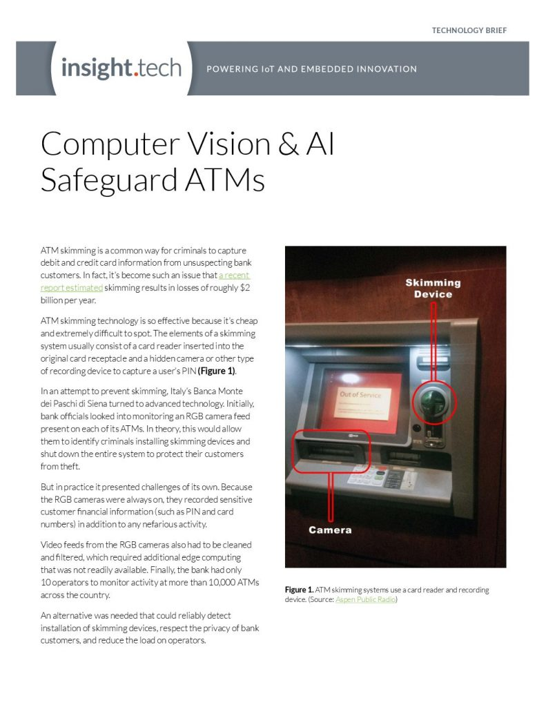 Computer Vision  and  AI Safeguard ATMs