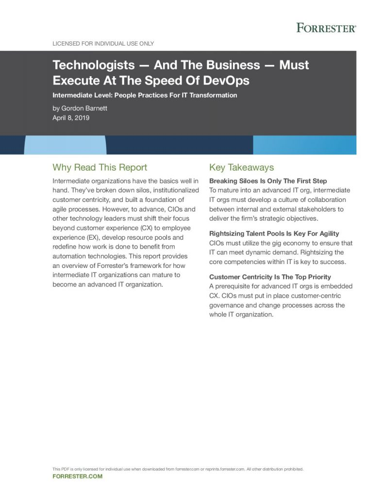 Technologists – And the Business – Must Execute at the Speed of DevOps