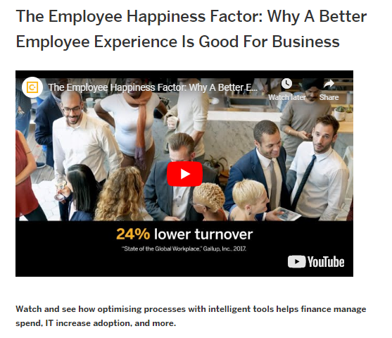 The Employee Happiness Factor: Why A Better Employee Experience Is Good for Business