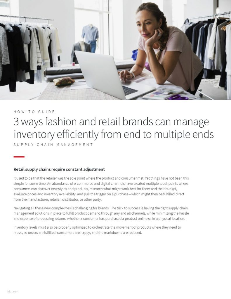 3 Ways Fashion And Retail Brands Can Manage Inventory Efficiently From End To Multiple Ends