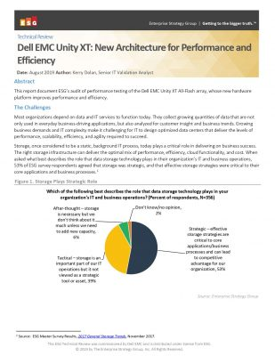 Dell EMC Unity XT: New Architecture for Performance and Efficiency