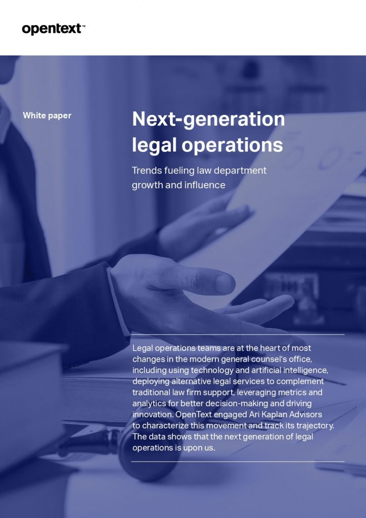 Next-generation Legal Operations