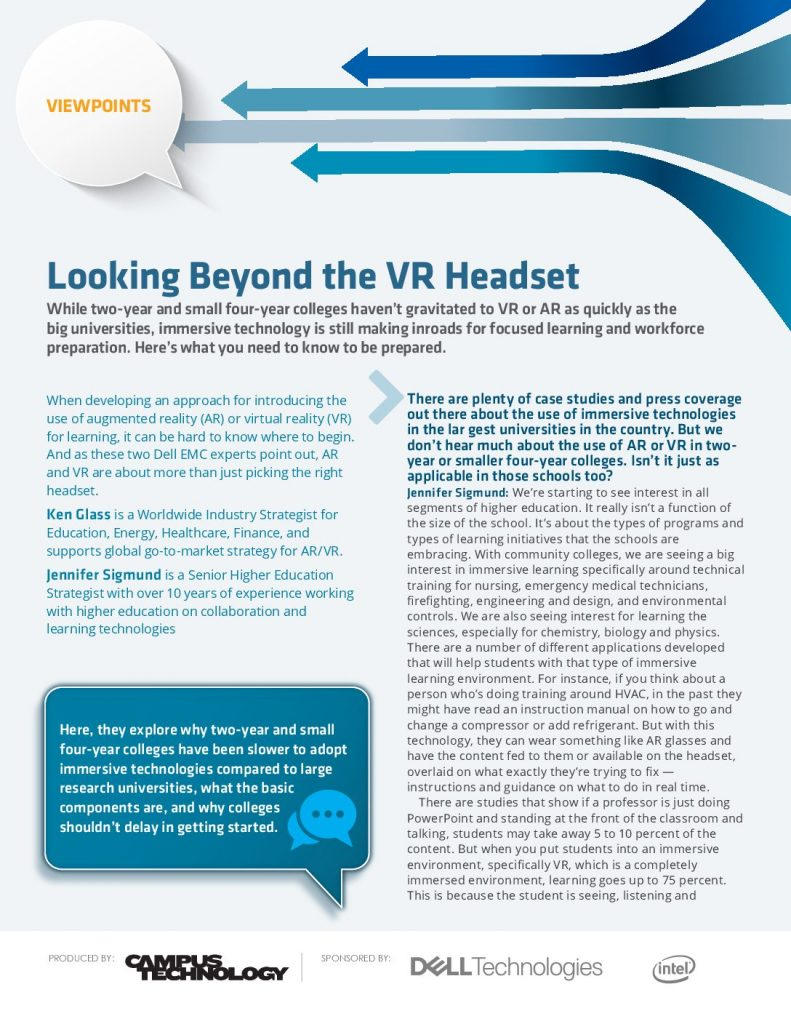 Looking Beyond the VR Headset