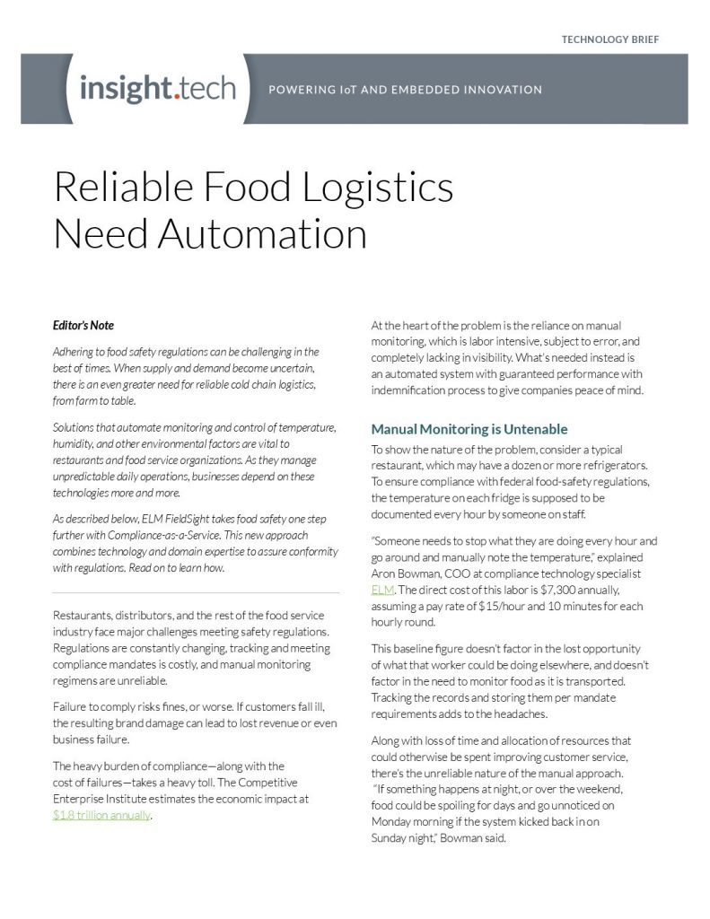Reliable Food Logistics Need Automation