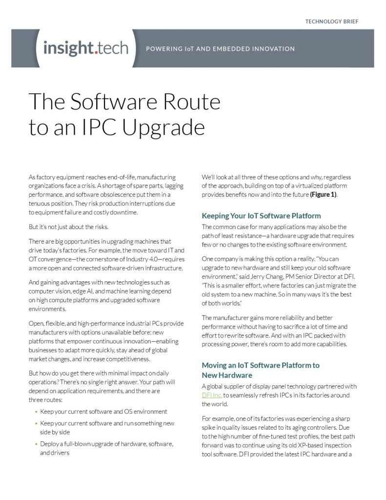 The Software Route to an IPC Upgrade