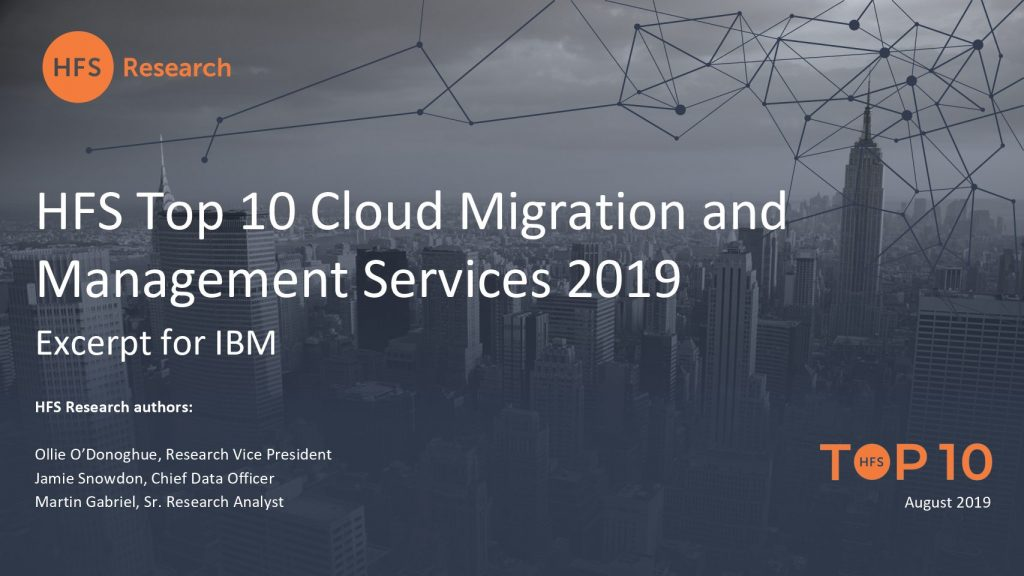 HfS Top Cloud Services Provider 2019