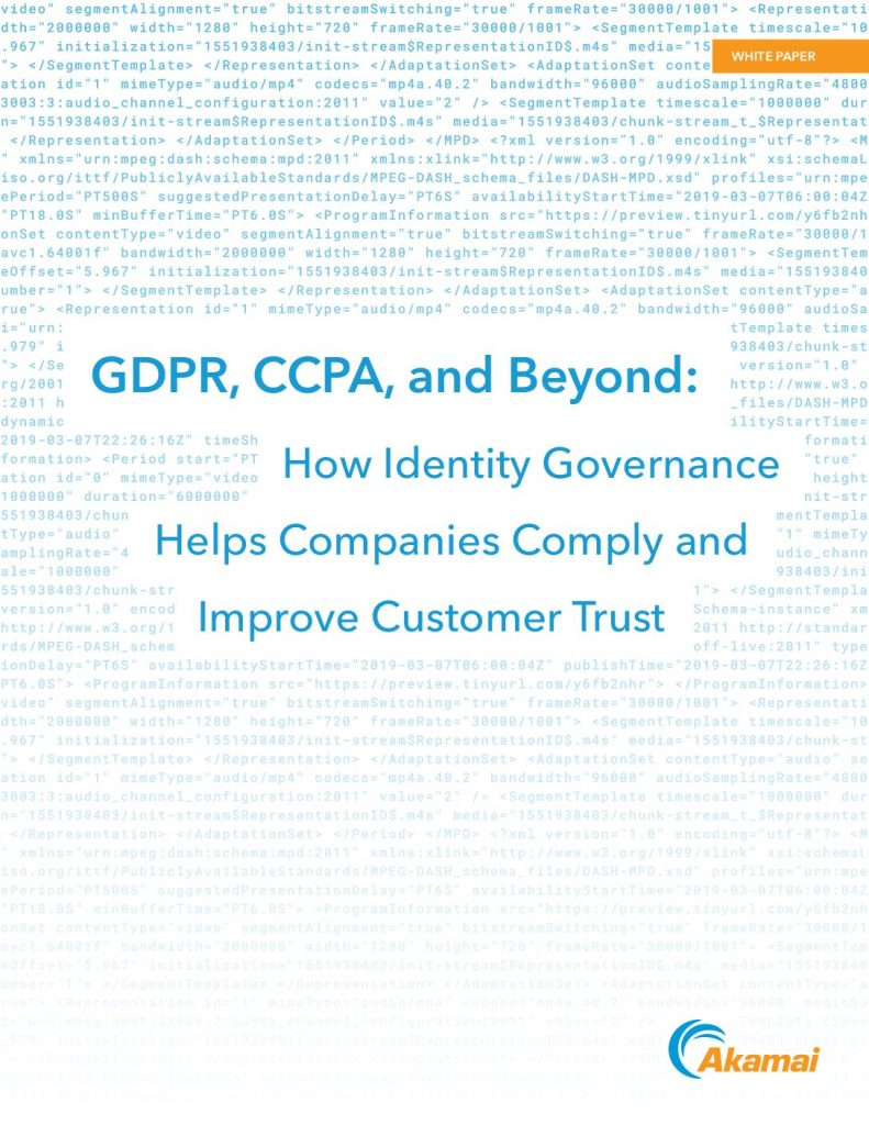 GDPR, CCPA, and Beyond