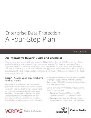 Enterprise Data Protection: A Four-Step Plan