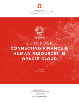 Nucleus Guide: Connecting Finance  and  HR in Oracle Cloud