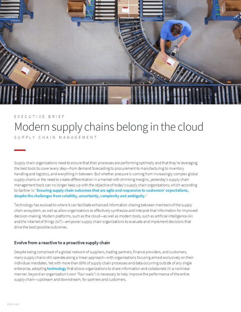 Modern supply chains belong in the cloud