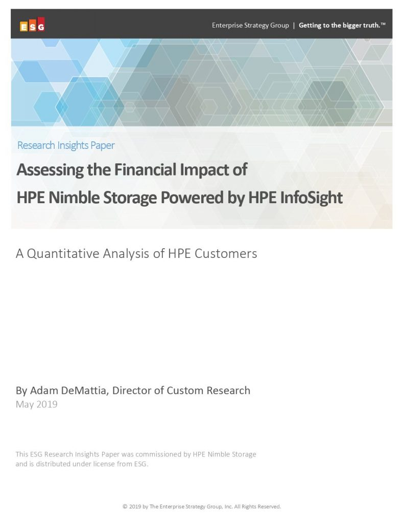 ESG: Assessing the Financial Impact of HPE Nimble Storage
