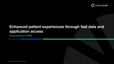 Enhanced patient experiences through fast data and application access