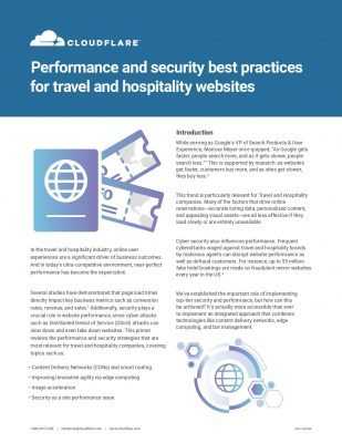 Performance and security best practices for travel and hospitality websites