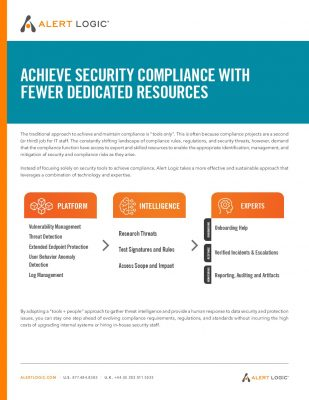 Achieve Security Compliance with Fewer Dedicated Resources