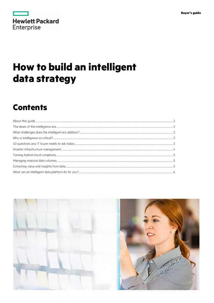 Create an Intelligent Data Strategy With HPE